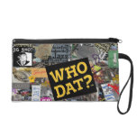 Who Dat? Collage Art  Wristlet