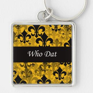 Who Dat DELUXE Fleur de Lis Key Chain