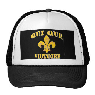 Who Dat French and Victory Trucker Hat