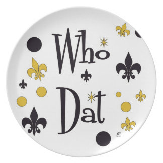 Who Dat Fun Plate