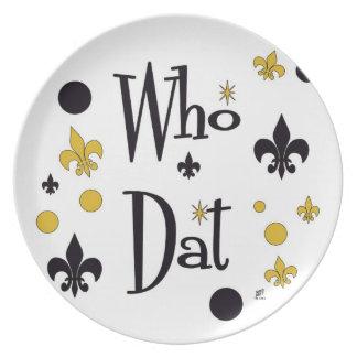Who Dat Fun Plate