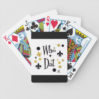 WHO DAT  Playing Cards