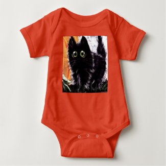 Who Dat Scaredy Cat Baby Romper