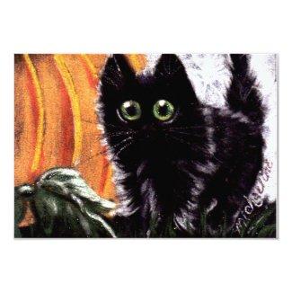 Who Dat Scaredy Cat Invitations