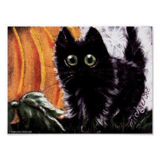 Who Dat Scaredy Cat Poster