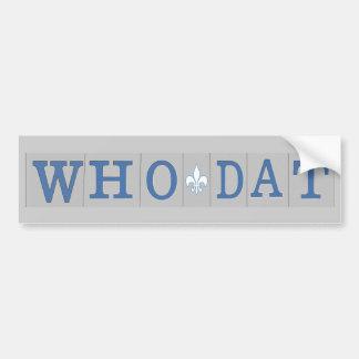Who Dat Street Tiles Bumper Sticker