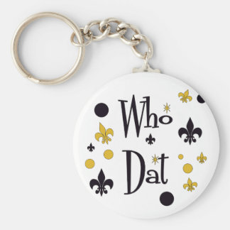 Who Dat t-shirts Keychain