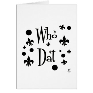 Who Dat's FUN Card