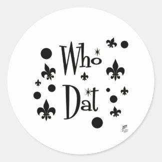 Who Dat's FUN Classic Round Sticker