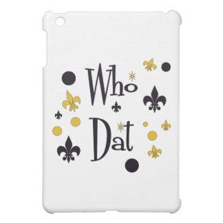 Who Dat's FUN in Black & Gold iPad Mini Covers
