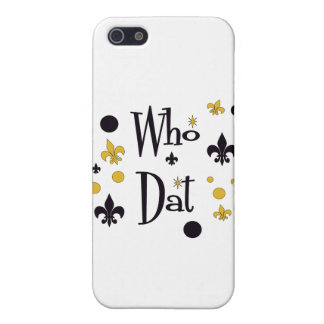Who Dat's FUN in Black & Gold iPhone 5 Cover