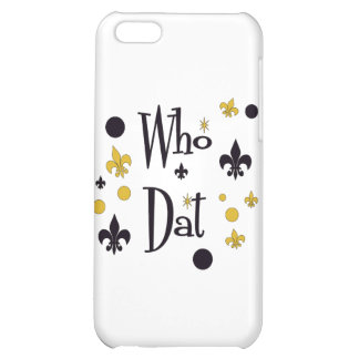Who Dat's FUN in Black & Gold Cover For iPhone 5C
