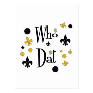 Who Dat's FUN in Black & Gold Postcard