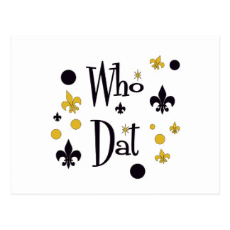 Who Dat's FUN in Black & Gold Postcard