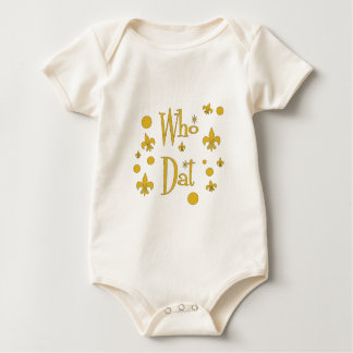 Who Dat's FUN in  Gold Baby Bodysuit