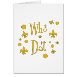 Who Dat's FUN in  Gold Card