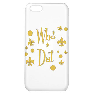 Who Dat's FUN in  Gold iPhone 5C Case