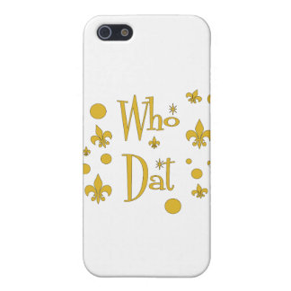 Who Dat's FUN in  Gold iPhone 5 Cover