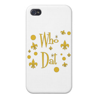 Who Dat's FUN in  Gold iPhone 4/4S Covers