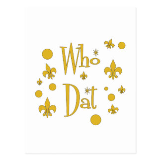 Who Dat's FUN in  Gold Postcard