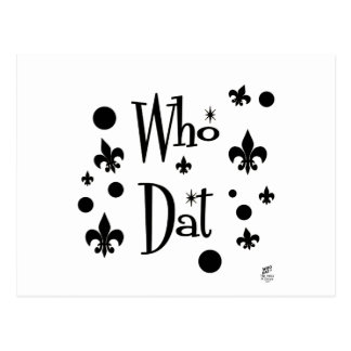 Who Dat's FUN Postcard