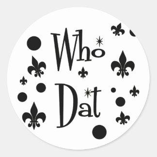 Who Dat's FUN Round Sticker
