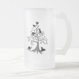 Who do you maintain eye contact? (No sentence) Frosted Glass Beer Mug