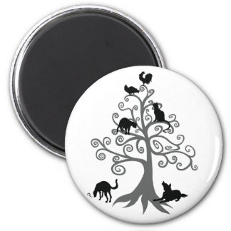 Who do you maintain eye contact? (No sentence) 2 Inch Round Magnet