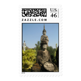 Who Do You Worship? Nong Khai, Isaan, Thailand Postage Stamp