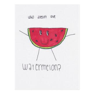 Who doesn't love WATERMELON? Postcard