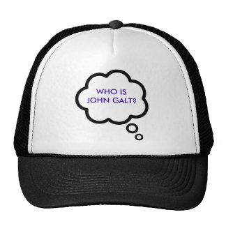 ¿WHO ES JUAN GALT? Nube del pensamiento Gorras De Camionero