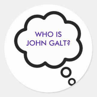¿WHO ES JUAN GALT? Nube del pensamiento Etiqueta Redonda