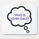 ¿WHO ES JUAN GALT? Nube del pensamiento Tapetes De Ratón