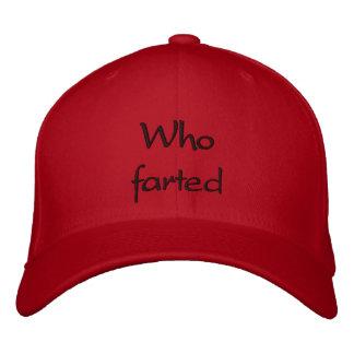 Who farted baseball cap