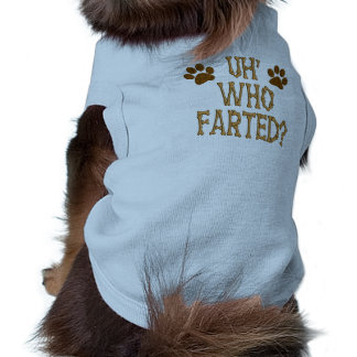 Who Farted Puppy Tshirt
