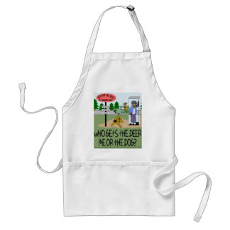 Who Gets the Deer...Me or the Dog? Adult Apron