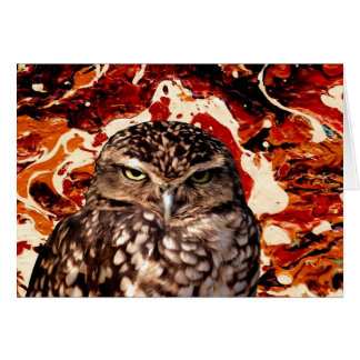 WHO GOES THERE? (Owl art design) ~ Greeting Card
