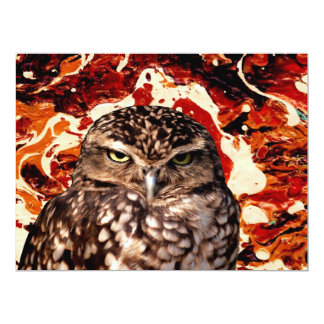 WHO GOES THERE? (Owl art design) ~ 6.5x8.75 Paper Invitation Card