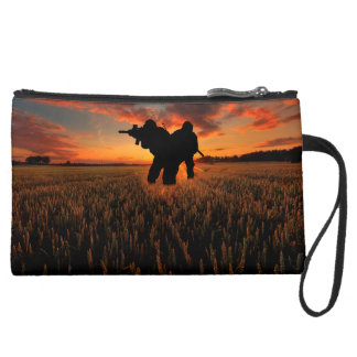 Who Goes There Suede Wristlet