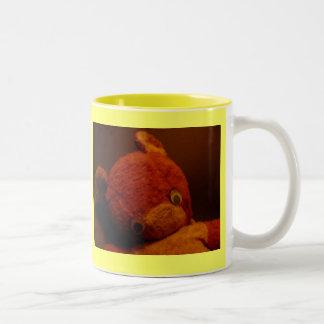 """Who has my nose?"" (left-handers) Two-Tone Coffee Mug"