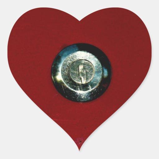 Who Has The Key ? Heart Sticker