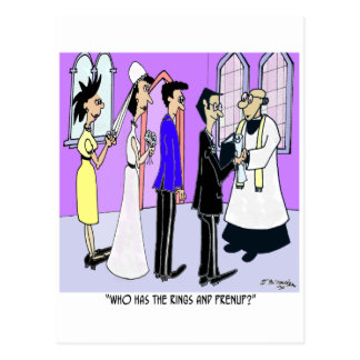 Who Has the Prenup? Postcard