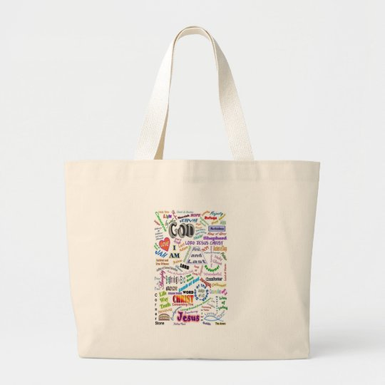 Who He Is...Names of God Large Tote Bag
