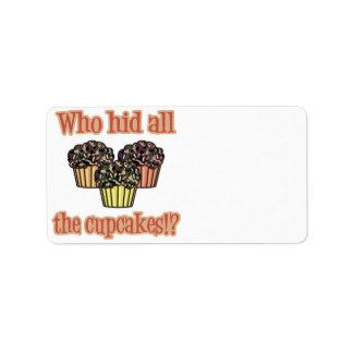 Who Hid the Cupcakes (camo) Label