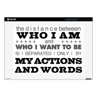 """Who I Am Grey 15"""" Laptop Decal"""