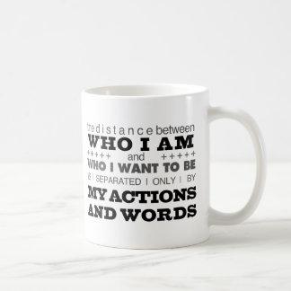 Who I Am Grey Coffee Mug