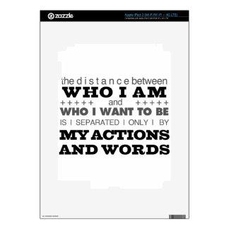 Who I Am Grey iPad 3 Decals