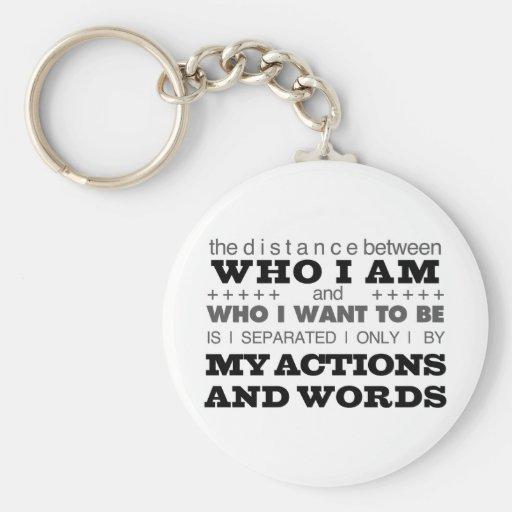 Who I Am Grey Keychain