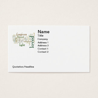 Who I am in Christ Light Colors Business Card