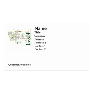 Who I am in Christ Light Colors Business Card Template